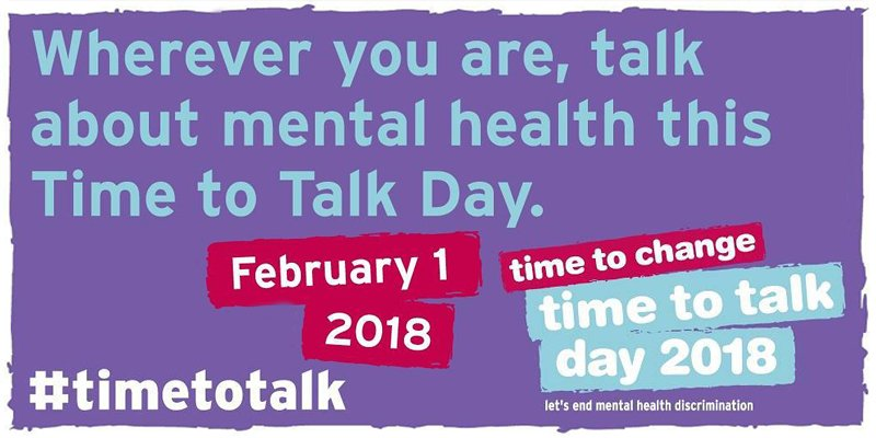 Time to Talk Day: 1st February 2018